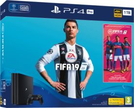 PlayStation®4 1TB PRO + Fifa 19 +  PS Plus Voucher