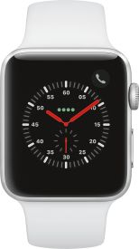 Watch Series 3 GPS + Cellular, 42mm Alu weisses Armband