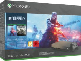 Xbox One X 1TB Battlefield V Gold Rush Special Edition Bundl