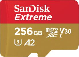 Extreme microSDXC 256GB 160MB/s A2 C10 V30 UHS + SD Adapter