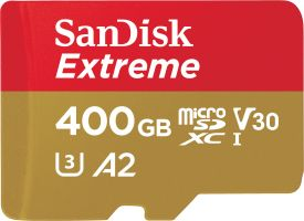 Extreme microSDXC 400GB 160MB/s A2 C10 V30 UHS + SD Adapter