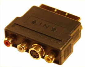 Prem. Scart Adapter S-VHS/RCA IN