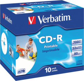 CD-R 700MB 52X 10er JC Print