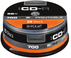 CD-R 700MB 25er Spindel Printable