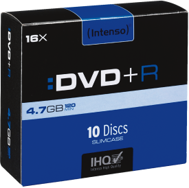 DVD+R 4,7GB 10er Slimcase 16x