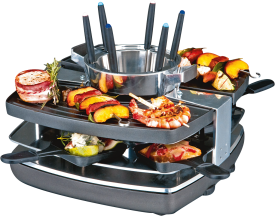 42559 Design Raclette-Fondue-Set