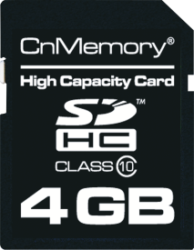 4GB SDHC Class 10 High Capacity Card