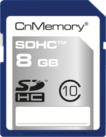 8GB SDHC Class 10 High Capacity Card