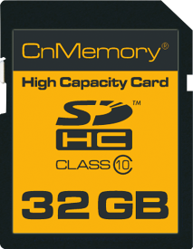 32GB SDHC Class 10 High Capacity Card