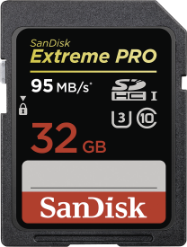Extreme Pro SDHC 32GB - 95MB/s Class 10 UHS-I