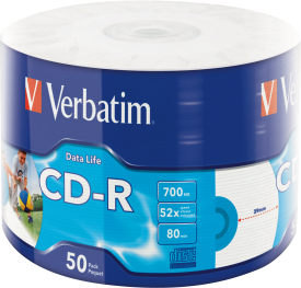 CD-R 52X DataLife 700MB 50 Pack WRAP IJP