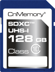 128GB SDXC-Card Class 10 UHS-I,up to 45MB/s