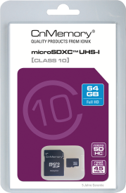 64GB Micro SDXC Class 10 UHS-I,up to 45MB/s