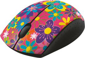 Ovi Wireless Ultra Small Mouse - flower power
