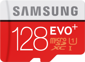 EVO+ 128GB microSDXC Card 80MB/s + Adapter