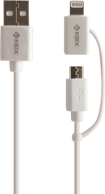2in1 Ladekabel micro USB/Lightning