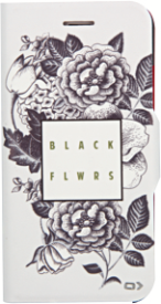 Bookcase FLORAL für iPhone 6/6S, black roses