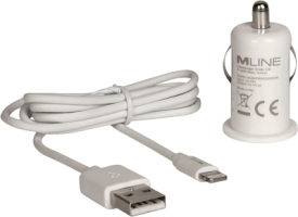 KFZ-Lader Single USB 1A und Lightning Datenkabel