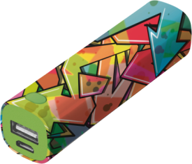 Tag PowerStick Portable Charger 2600 – graffiti arrows
