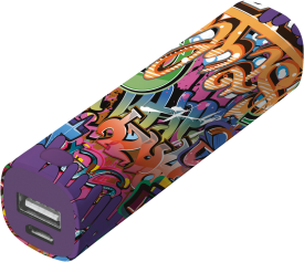 Tag PowerStick Portable Charger 2600 – graffiti text