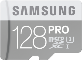 PRO 128GB micro SDXC Card 90MB/s + Adapter