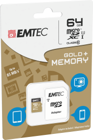 micro SD Class 10 Gold plus 64 GB