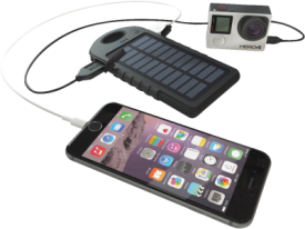 USB Power Bank + Solar Charger