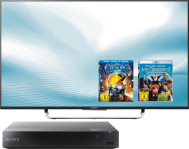 SONY UHD-TV KD49X8309+Blu Ray Player+Blu Ray Filme