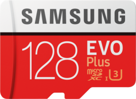 EVO+ 128GB microSDXC Card 2017 + Adapter 100MB/s