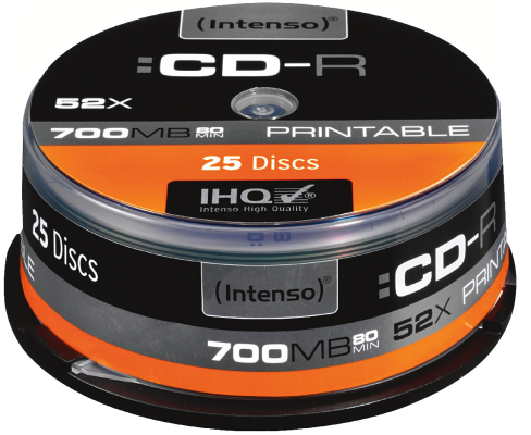 Intenso CD-R 700MB 25er Spindel Printable_0