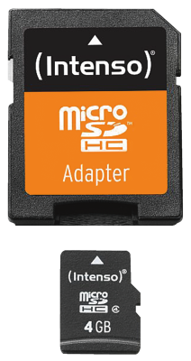 Micro SD Card 4GB Class 4 inkl. SD Adapter_0