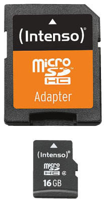 Intenso Micro SD Card 16GB Class 4 inkl. SD Adapter_0