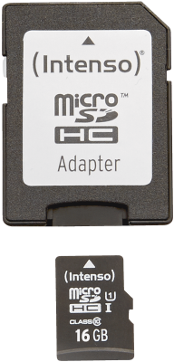 Intenso Micro SD Card 16GB UHS-I inkl. SD Adapter_0