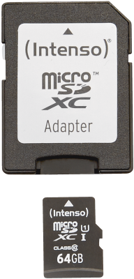 Intenso Micro SD Card 64GB UHS-I inkl. SD Adapter_0