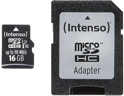 Intenso Micro SD Card 16GB UHS-I inkl. SD Adapter Professional_0
