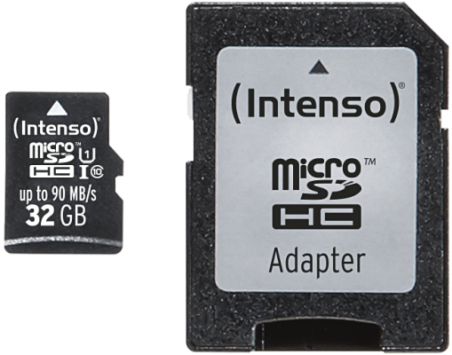 Intenso Micro SD Card 32GB UHS-I inkl. SD Adapter Professional_0