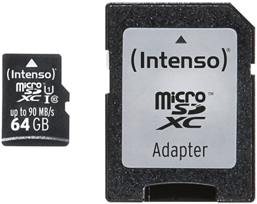 Micro SD Card 64GB UHS-I inkl. SD Adapter Professional_0