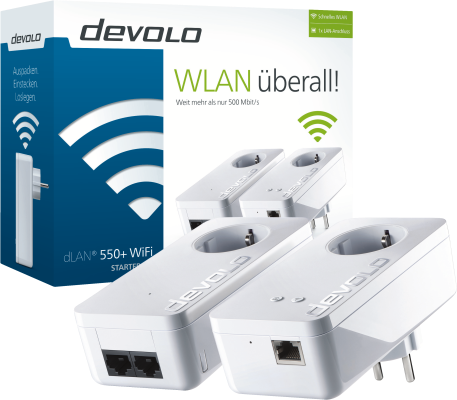 Devolo dLAN 550+ WiFi Starter Kit Powerline_0