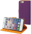 muvit iPhone 6 Wallet Case with 3 Cardslots Purple/Orange