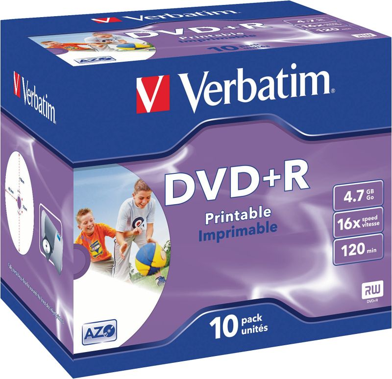 DVD+R 4,7GB 16X 10er JC Printable