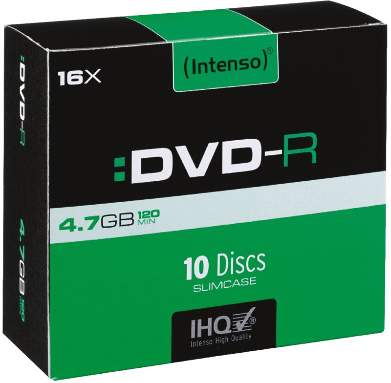 DVD-R 4,7GB 10er Slimcase 16x