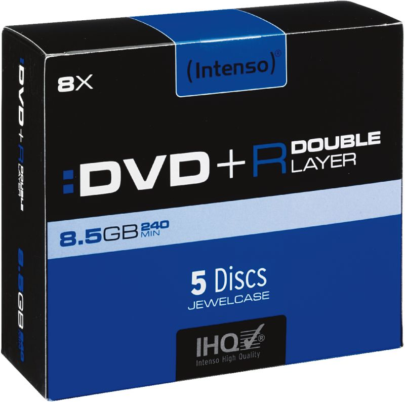 DVD+R 8,5GB Doublelayer 5er Jewelcase