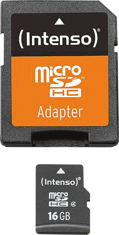 Micro SD Card 16GB Class 4 inkl. SD Adapter
