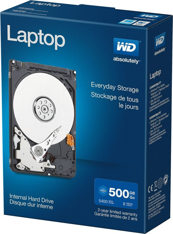 Laptop Everyday Hard Drives 500GB Retail