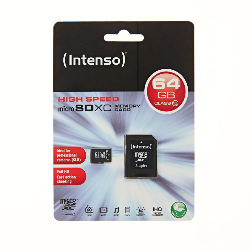 Micro SD Card 64GB Class 10 SDXC inkl. SD Adapter