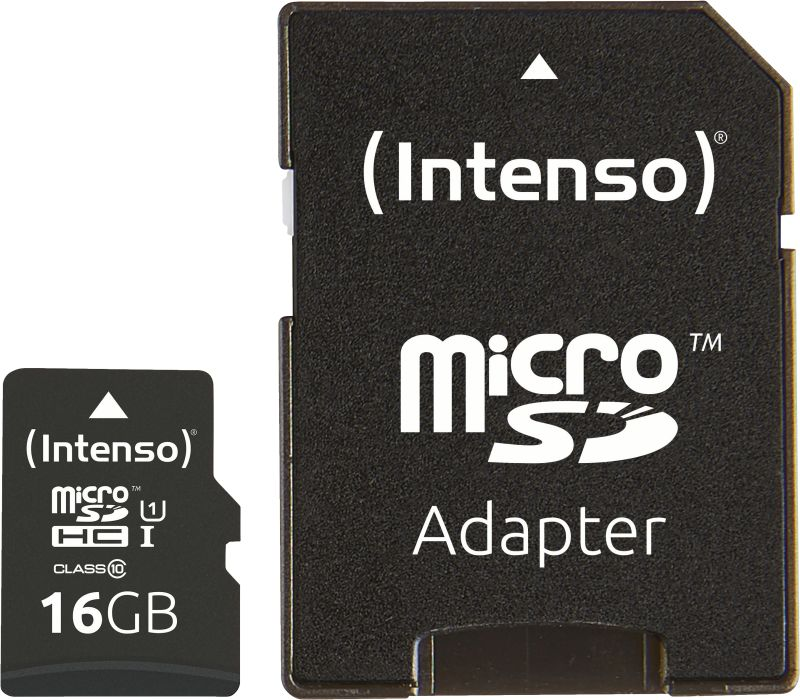 Artikelbild Intenso Micro SD Card 16GB UHS-I inkl. SD Adapter Speicherkarte
