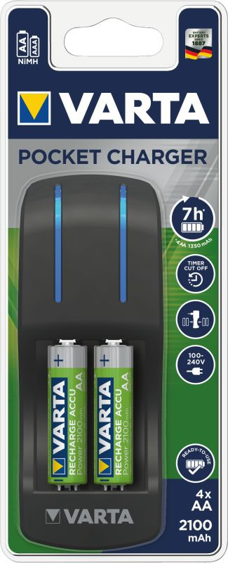Easy Pocket Charger (4x AA 2.100 mAh)
