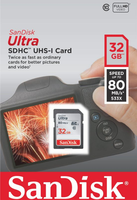 Ultra SDHC 32GB 80MB/s UHS-I