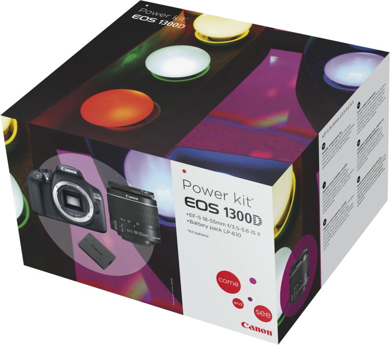 EOS 1300D EF-S 18-55 IS POWER KIT (+Batt.)