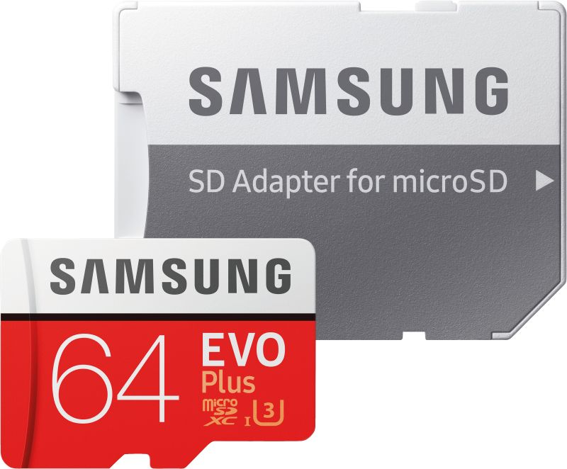 EVO Plus 64GB microSDXC Card 100MB/s + SD-Adapter